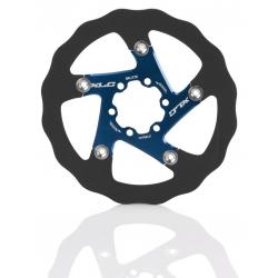 XLC disco freno BR-X76 Ø 160mm nero/blu