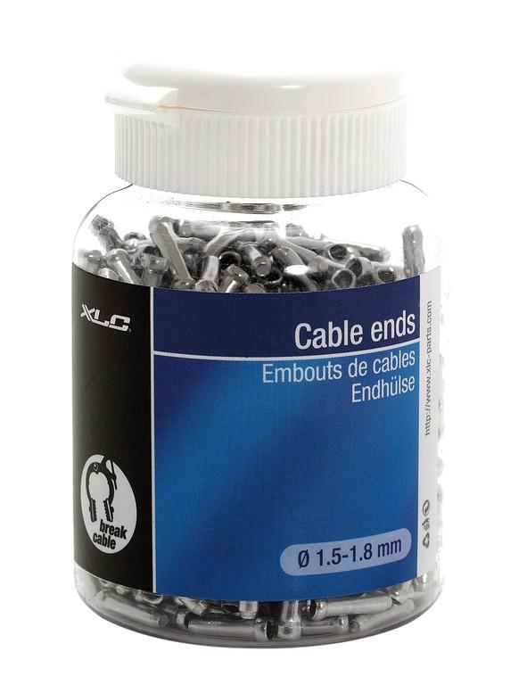 Terminali cavo freno con Ø da 1,5 a 1,8 mm, barattolo 500 pezzi