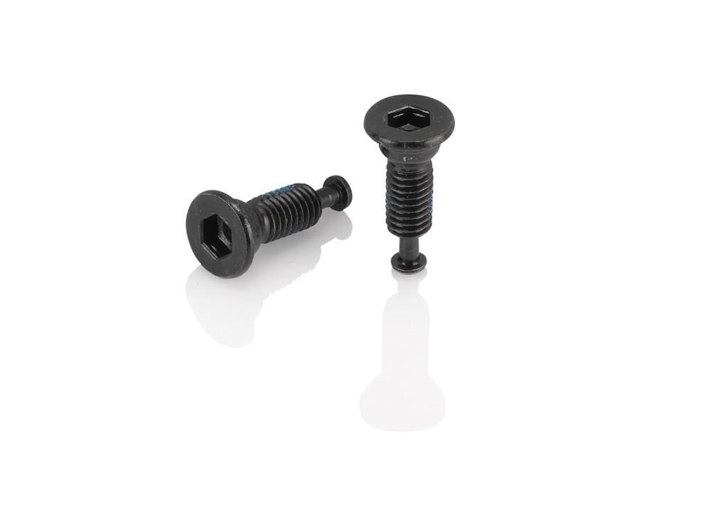 XLC bullone per adattatore Flatmount M5x8mm, testa conica, set da 2 pezzi