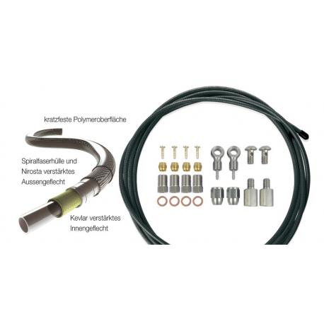 XLC condotto freni a disco 2500mm, kit universale acciaio inox per 1 set di freni