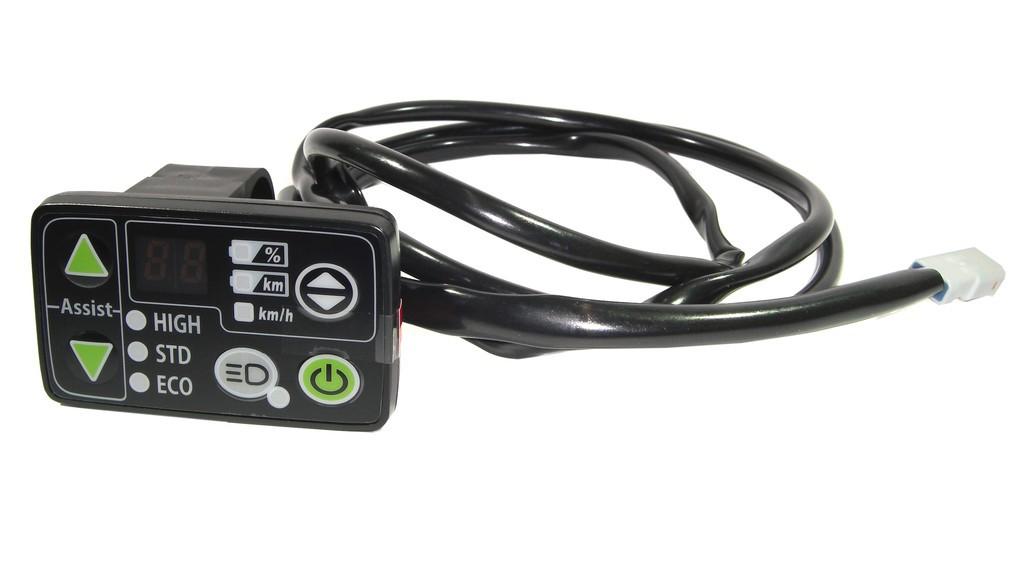 Display LED E-bike YAMAHA, nero per X94 und X01, nero