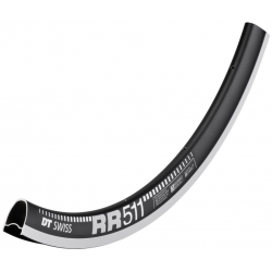 "Cerchio DT Swiss RR 511 28"" nero 622-18 VL 6,5mm 20 fori"