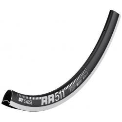 "Cerchio DT Swiss RR 511 28"" nero 622-18 VL 6,5mm 24 fori"