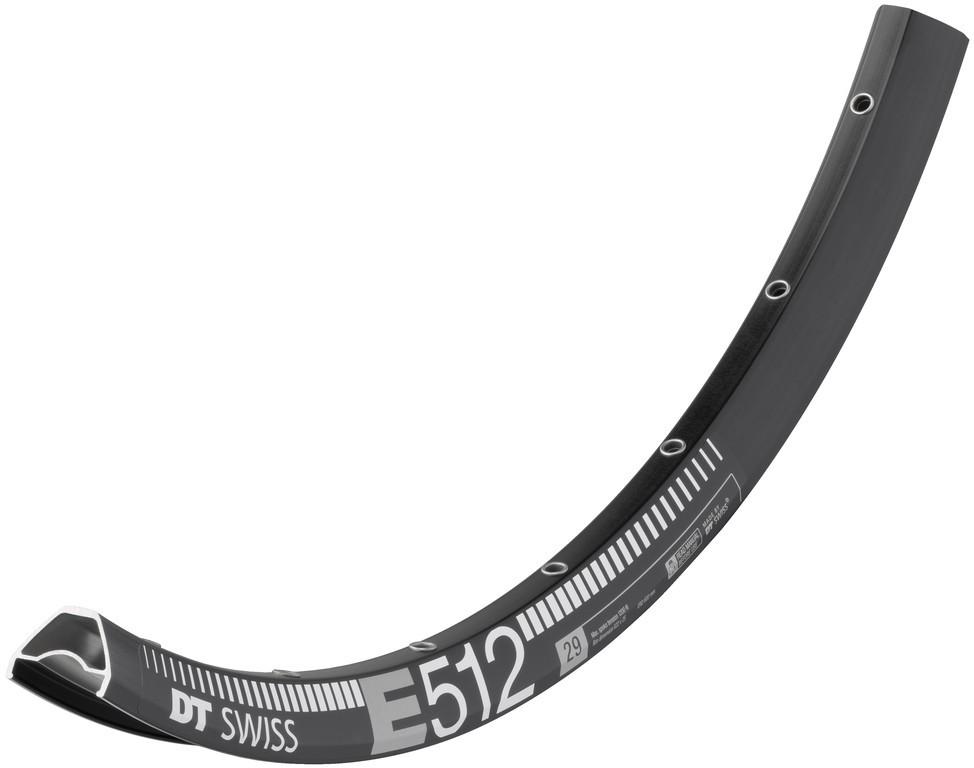 """Cerchio DT Swiss E 512 29"""" nero 622-25 VL 6,5mm 28 fori"""