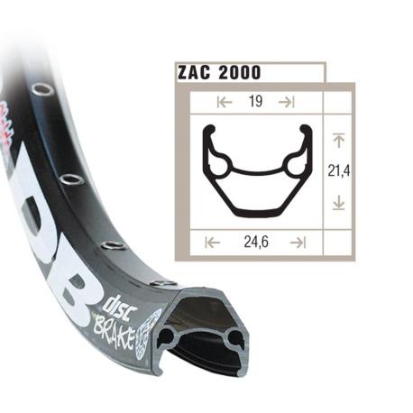"""cerchione Rigida ZAC 2000 28""""Disc, nero 622-19,buco p.val. 6,5mm,36 fori,c.occ."""