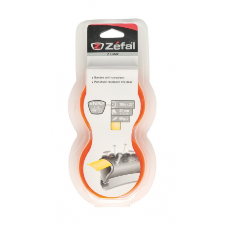 "Nastro protezione foratura Zefal Z-Liner g/aranc Hybrid larghezza 27mm 27"" & 700C"