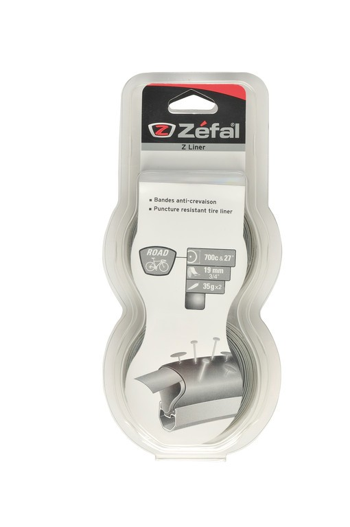 """Nastro protezione foratura Zefal Z-Liner grigio Road larghezza 19 mm 27"""" & 700C"""