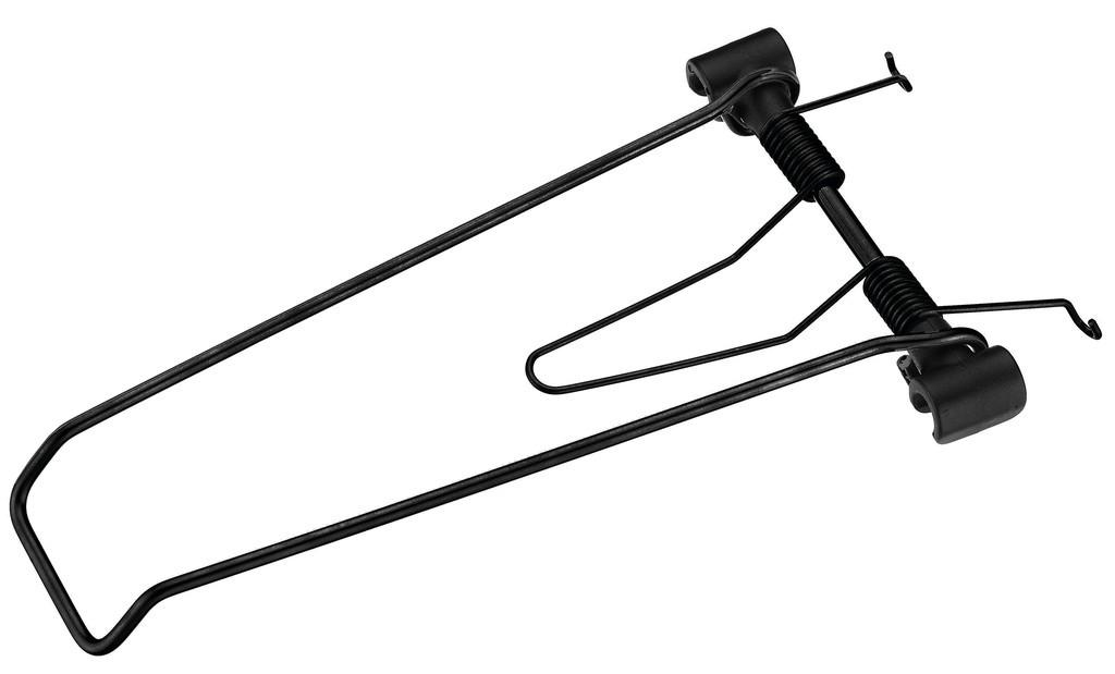 Ribaltina a molla Racktime Clampit argento per portapacchi con larghezza 120mm