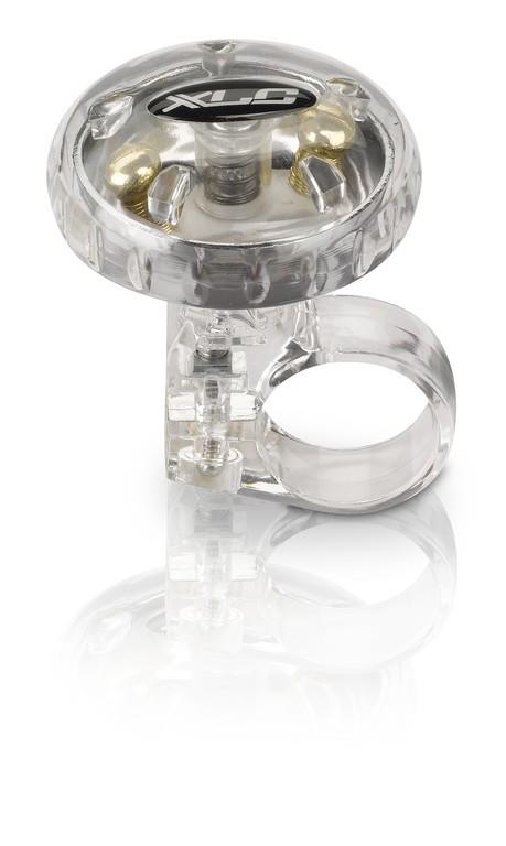 XLC campanello bici DD-M12 Argento trasparente, Ø 36 mm