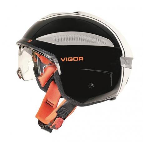 Casco Cratoni Vigor (bici speed) T. S (54-55cm) nero/bianco/rosso lucido