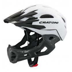 Casco Cratoni C-Maniac (Freeride) T. M/L (54-58cm) bianco/lucent-nero op.