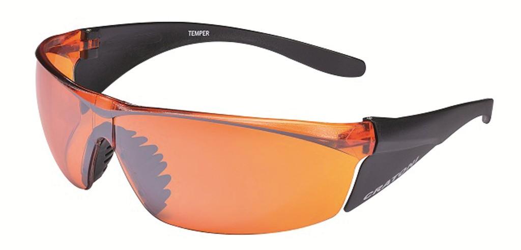 Occhiali da sole Cratoni Temper nero opaco, lenti arancioni