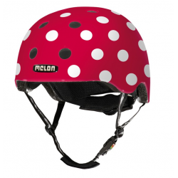 Casco Melon Urban Active Story Dotty White T. M-L (52-58cm)