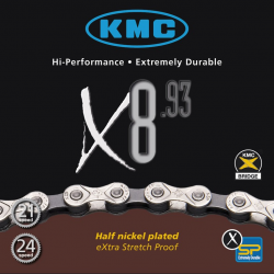 Catena KMC X-8-93, 117 maglie, 7,1mm, 6V-7V-8V