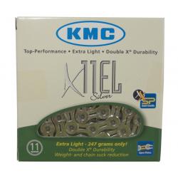 "Catena KMC X-11-EL color argento 1/2"" x 11/128"", 114 maglie, 5,65mm, 11V"