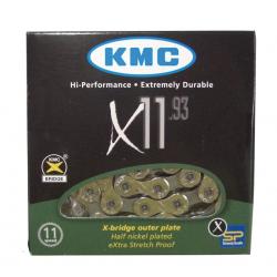 """Catena KMC X-11.93 1/2"""" x 11/128"""", 118 maglie, 5,65mm, 11V"""