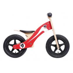 "Bici senza Pedali Rebel Kidz Wood Air legno, 12"", Retro Racer rosso/bianco"