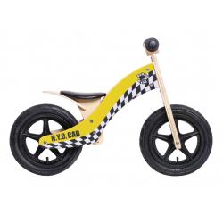 "Bici senza Pedali Rebel Kidz Wood Air legno, 12"", Taxi giallo"