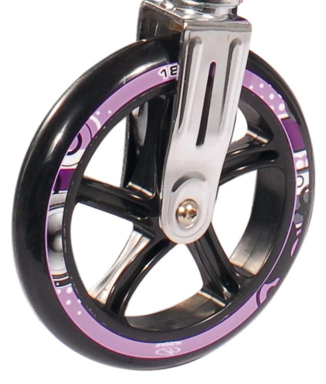 Ruote in PU Hudora Big Wheel al pezzo 180 mm Ø lilla/nero per mod.14746