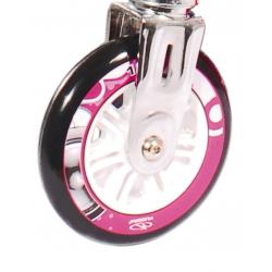 Ruote in PU Hudora Big Wheel al pezzo 125 mm Ø bianco/rosa per mod.14742