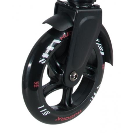 Ruote in PU Hudora Big Wheel al pezzo 145 mm Ø nero/rosso per mod.14254