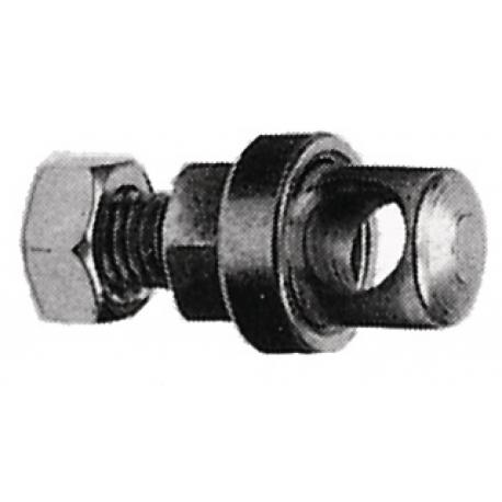 Bullone per parafango, ottone cromato M 5x15