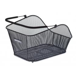 Cestino posteriore Basil Icon M Multi-System nero, maglia stretta, removibile