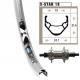 Ruota posteriore 20x1.75 36 fori Rigida X-Star 19 argento raggi inox