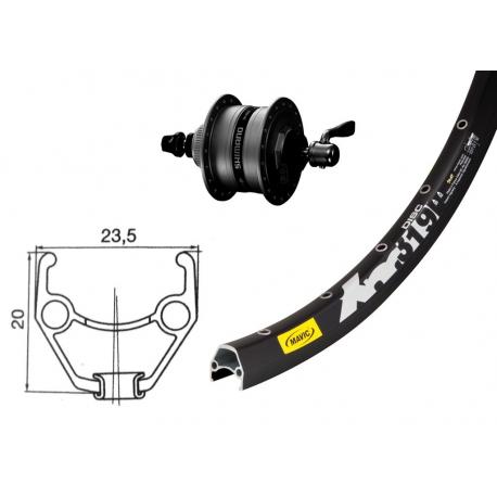 "RA 26"" DH3D35 Centerlock nero QR 36 fori Mavic XM 317 Disc nero, raggi Niro (neri)"