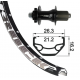 RP 26x1.9 XLC 6-fori, nera TA 12 32L Rodi BlackRock DISK nera, raggi neri inox