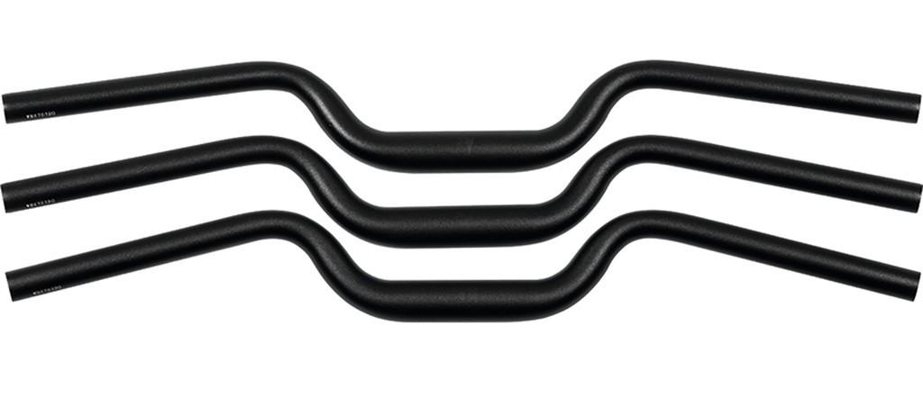 Manubrio Ergotec M-Bar L Alu Ø 31,8mm, 700mm, nero/opaco 18°