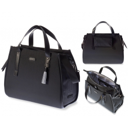 Borsa business Basil Noir impermeabile midnight black 17 litri