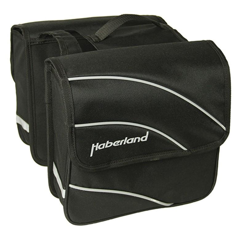 """Borsa doppia Haberland Kim S 20"""" nero, 24x24x8,5cm, 10 litri"""