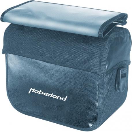 Borsa manubrio Haberland impermeabile nero, 25x20x13cm, 7 ltr