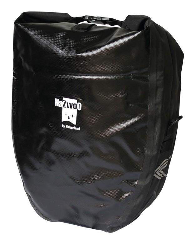 Coppia borse indipendenti Haberland impermeabili nere, 37x43x16cm, 50 ltr