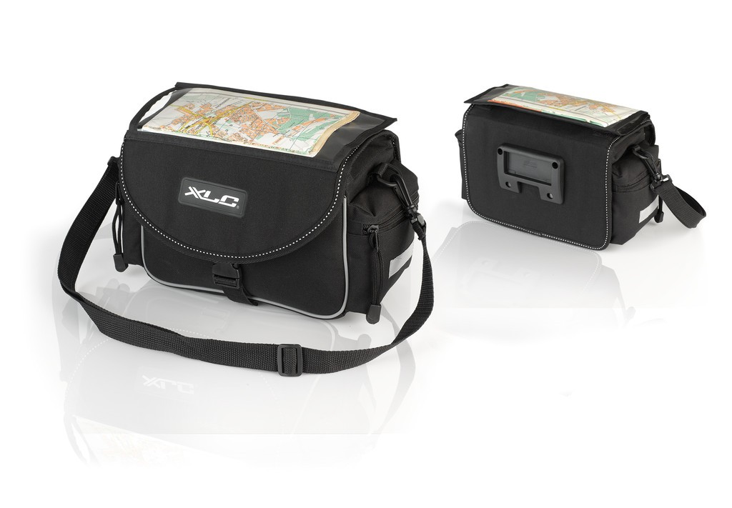 XLC borsa manubrio Traveller BA-S65 nero/antracite, 29x14x28cm, ca.7 litri