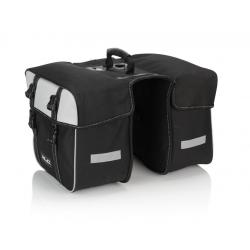 XLC borsa doppia Traveller BA-S74 nero/antracite, 30x30x17cm, ca.30 litri