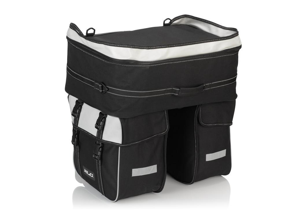 XLC borsa a 3 scomparti Traveller BA-S68 nero/antracite ca. 58 litri