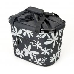 Borsa cesto man BlueBird con supp QR nero/fiori 35.9x26.4x27.3 cm 20 ltr.