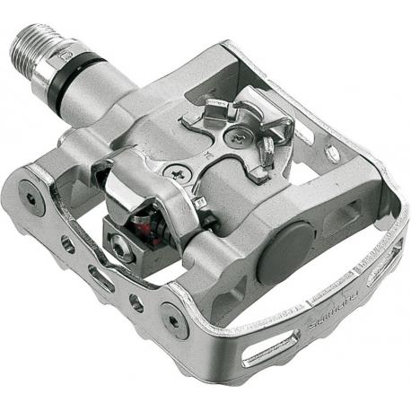 "PedaliSPD Shimano PD-M 324 su cartone unilaterale, argento,9/16"""
