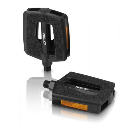 XLC City-/Comfort-Pedal PD-C09 Plastica, superficie Griptape, nero