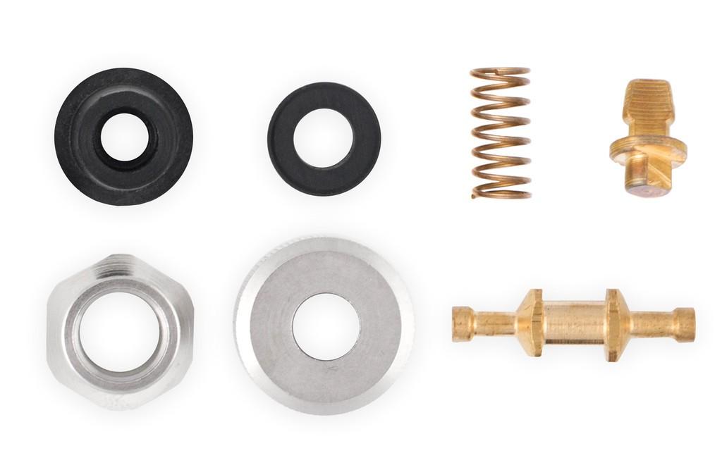 Set pezzi di ricambio con adattatore per valvola Schrader
