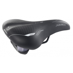 Selle Bassano Prima City nero, uni elastomero, 270x250mm, 495g