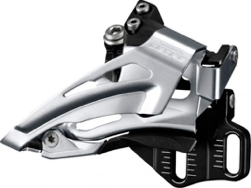 Deragliatore Shimano Deore Top Swing FD-M618E6X, Down Pull, 66-69° nero E-Typ