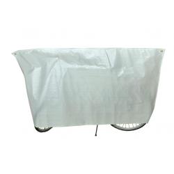 Copribicicletta VK 110 x 210cm, bianco, con occhielli e corda