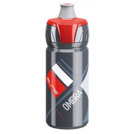 Borraccia Elite Ombra 550ml, grigio/rosso