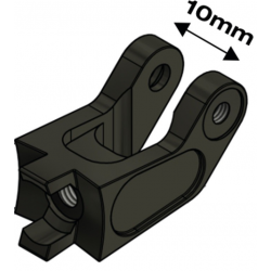 Adattatore luce SDS Speedlifter 10mm, nero