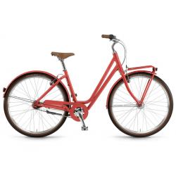 "Winora Jade FT 28"" 7-v. Nexus ruota lib. 18 rosso corallolo opaco"