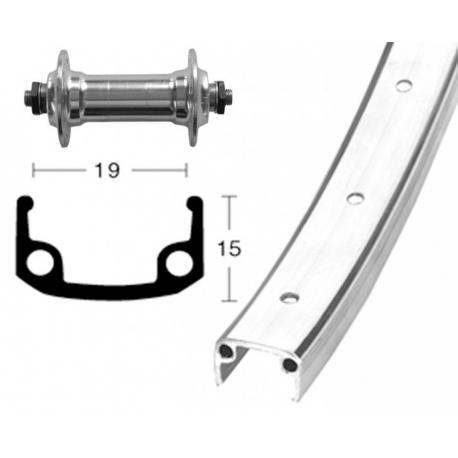Ruota Anteriore QR 28x1 /38 Alu/zinco