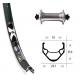 Ruota Anteriore QR 28x1.75 RM-40 Rigida X-star nero/arg/niro